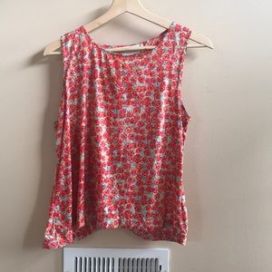 Anthropologie Rose Patterned Swing Top - M